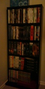 What is left o my DVD collection. It used to be 4 times this many.