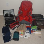 What I'm packing for my trip around the world.