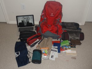 Everything I am taking with me around the world!!!