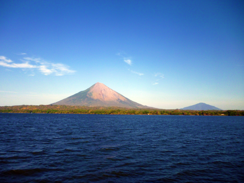 Picture of Isla de Ometepe, Nicaragua. It is made of two volcanoes Concepcion & Maderas. Around the volcanoes are a few towns spread through out.