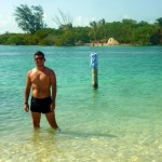 Me at the Split in Caye Caulker! Ahh the water was just amazing~