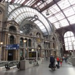This is a shot of the inside of the famous Antwerp Central Station. It has been ranked as one of the most beautiful stations in the world and I can see why. It is absolutely majestic inside and just beautiful.