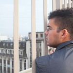 A shot of me looking out over the city of Brussels. Val took this picture and I love it... I wonder what I was thinking?