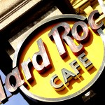 A date with myself at the Hard Rock Cafe Madrid.