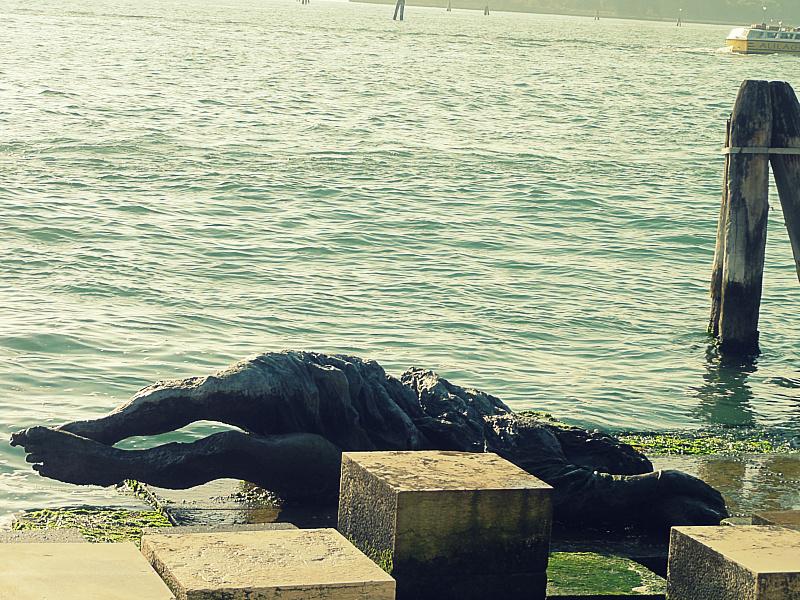 Statue in Venice.