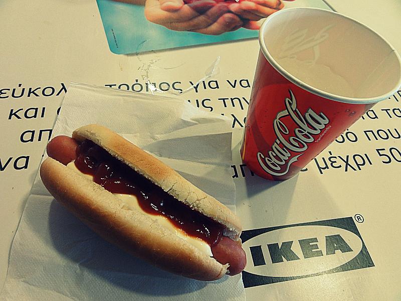 IKEA HOT DOGS.