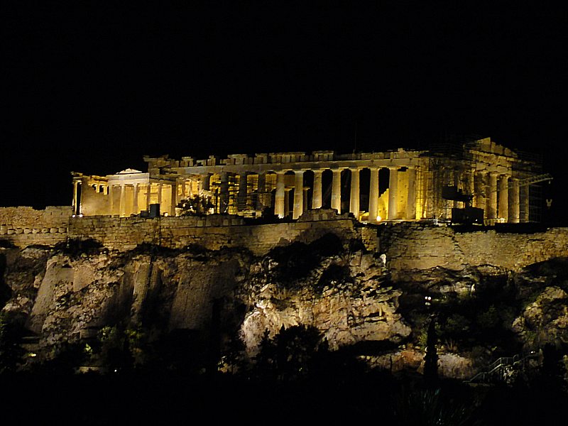 Parthenon at Night!