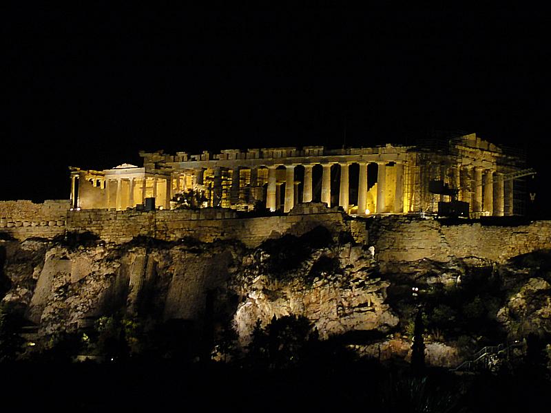 Parthenon at Night!