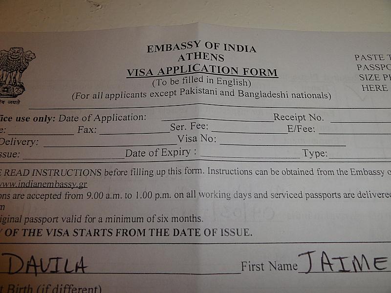 INDIAN VISA APPLICATION IN ATHENS!