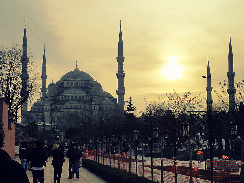 The Blue Mosque at Sunset!