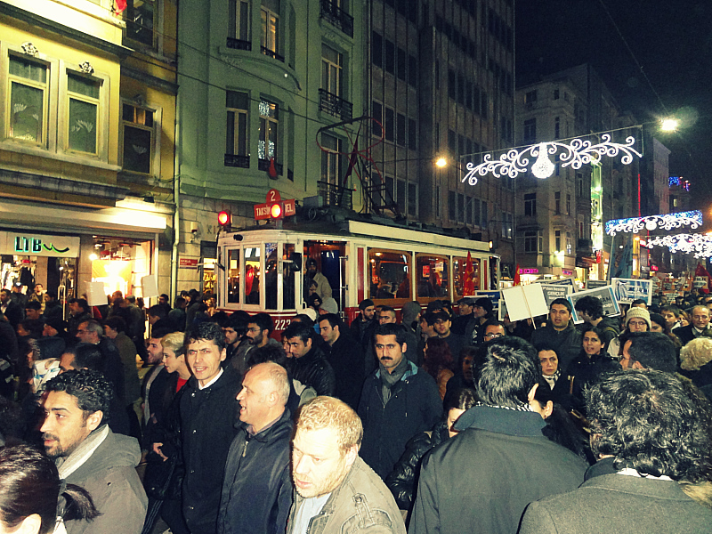 Tram on Istiklal, Istanbul!