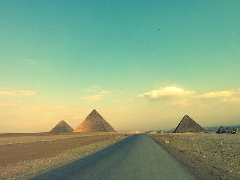 The Great Pyramids of Giza!