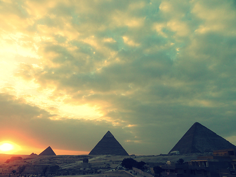 Sunset at the Great Pyramids of Giza!