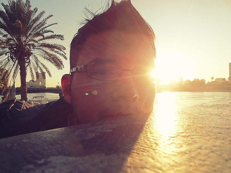Sunset through glasses in Egypt!