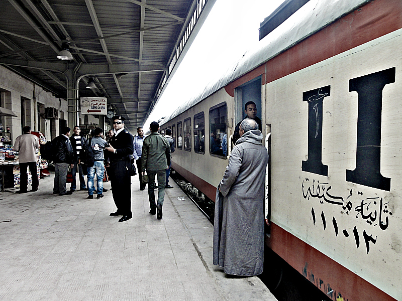 2nd class train, Egypt!