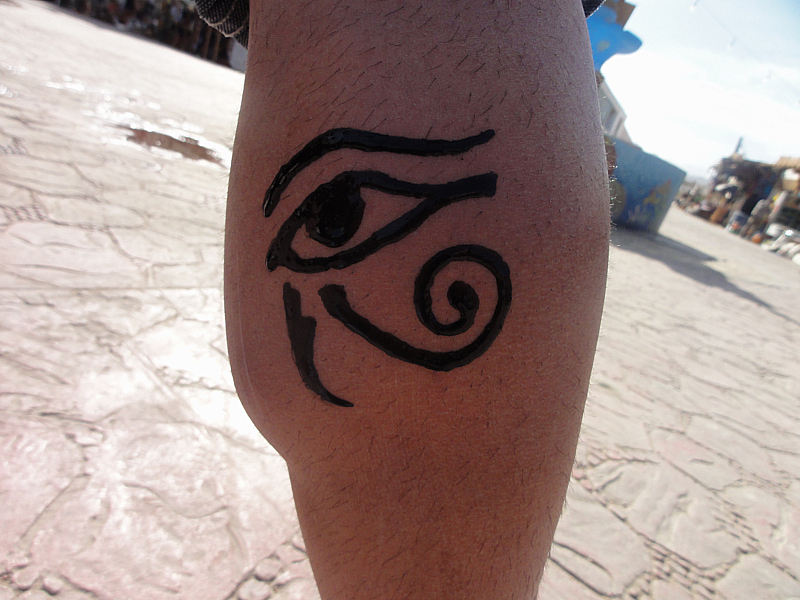 Horus Eye - tattoo, Egypt
