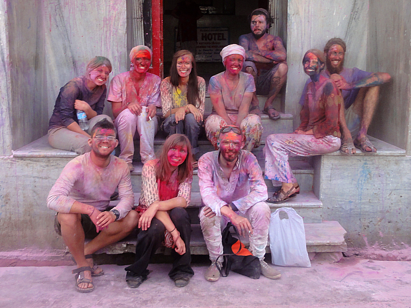 Holi Festival in Mathura, India!
