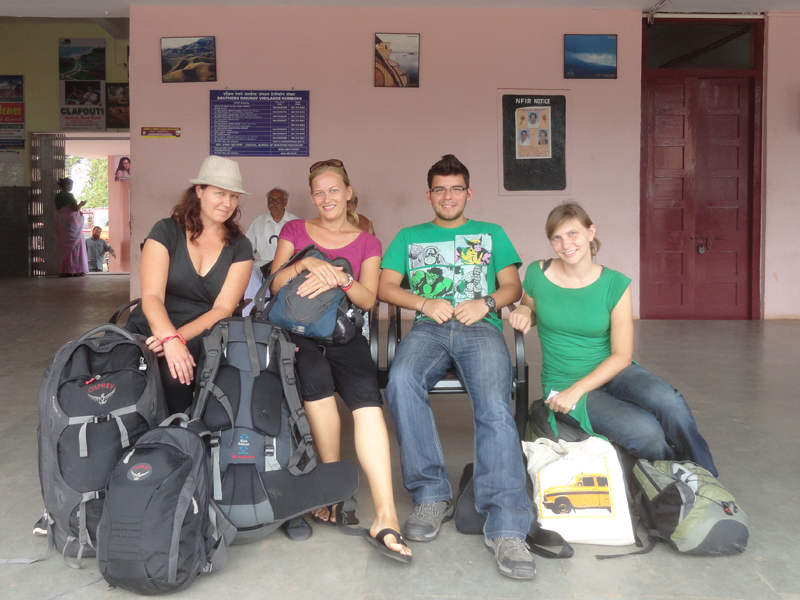 waiting for train in India