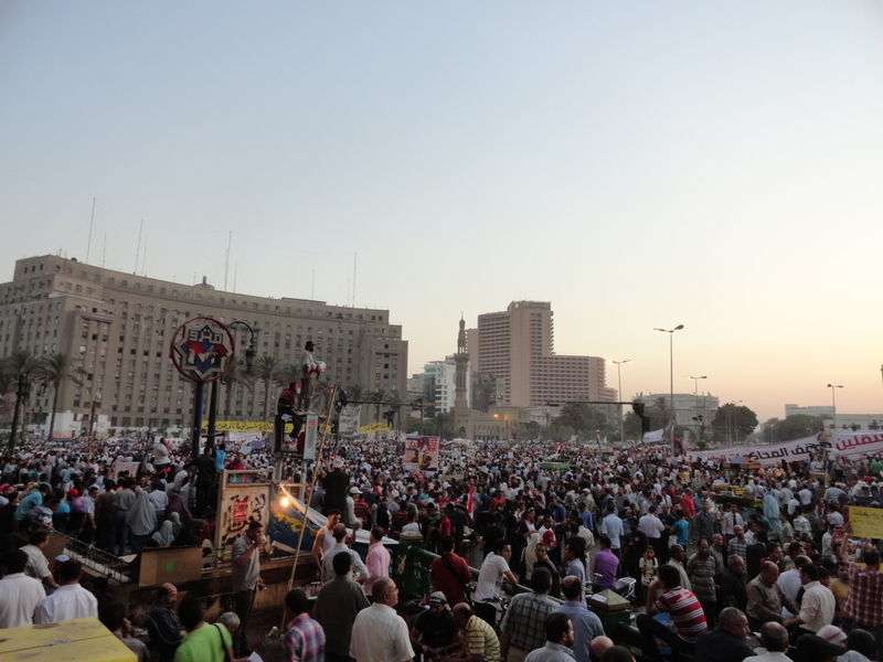 Crowds at Tahrir Sq.