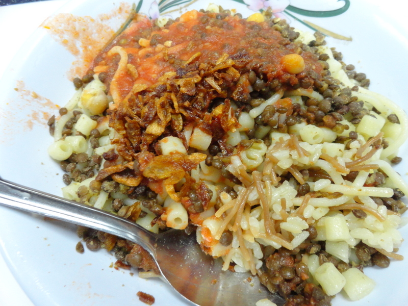 Koshari in Egypt