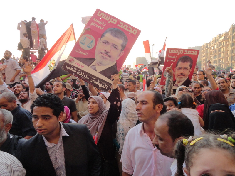 People in Tahrir today, June 24th 2012 - photo by Jaime Davila