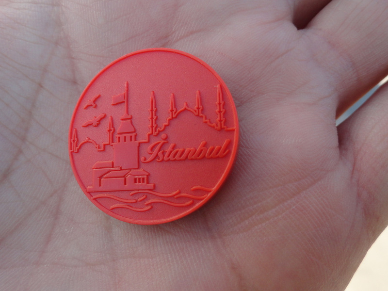 Metro tokens for Istanbul.