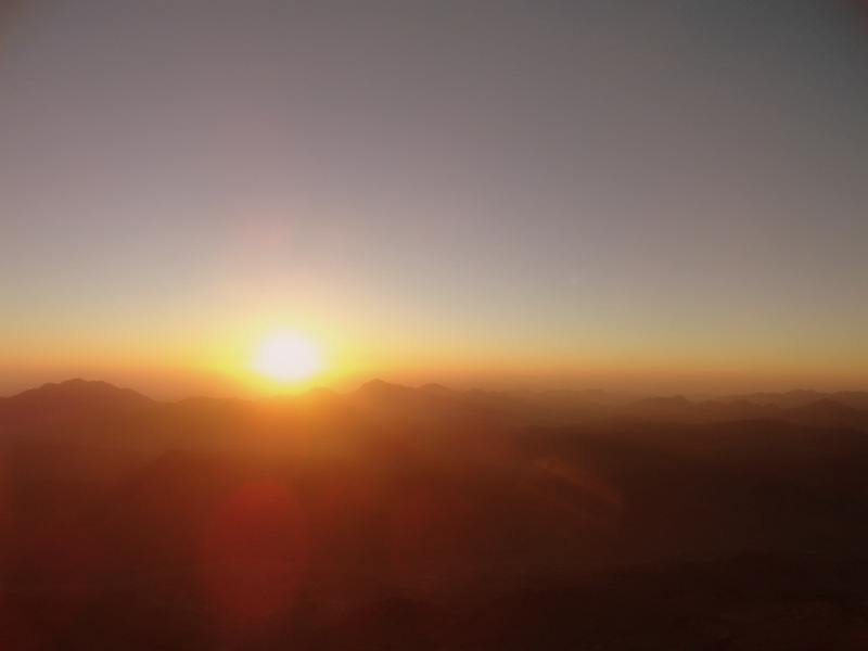Sunrise on Mt. Sinai, Egypt