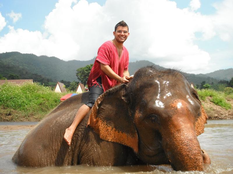 Riding Elephants in Chiang Mai