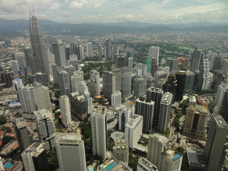 Kuala Lumpur from above.