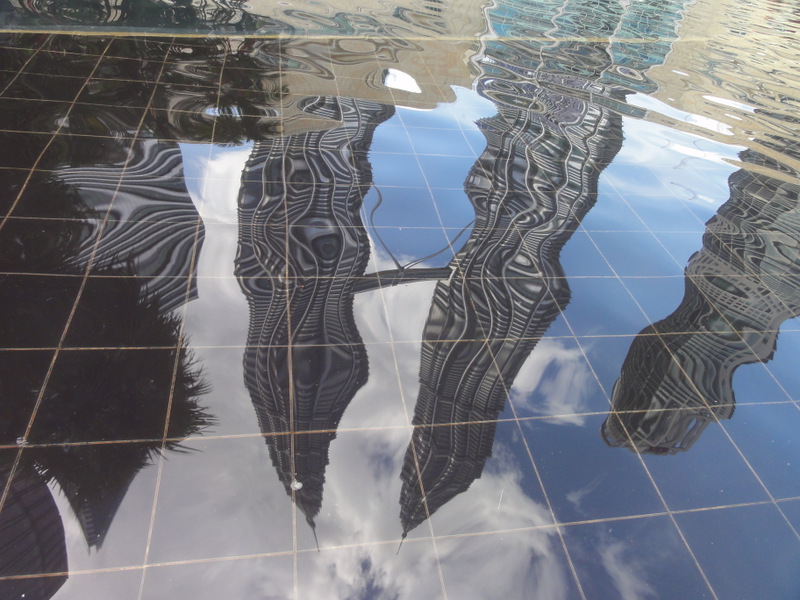 Reflection of the Petronas Twin Towers.