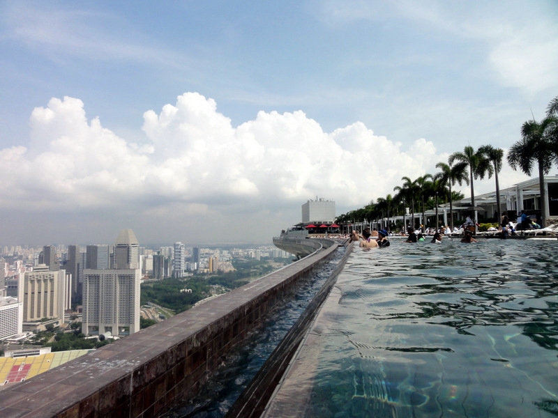 Swimming At The World 39 S Highest Infinity Pool