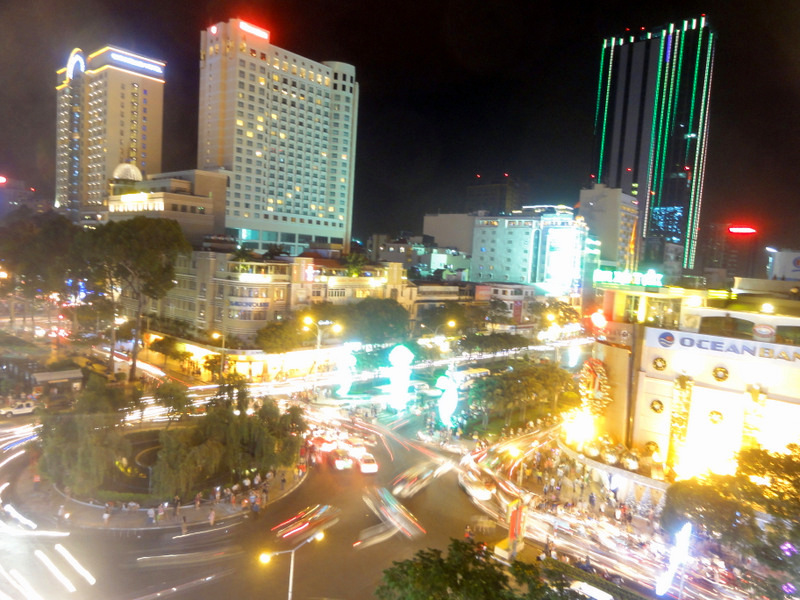 Roof top bar in Saigon.
