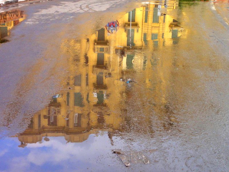 Rain in Cairo.