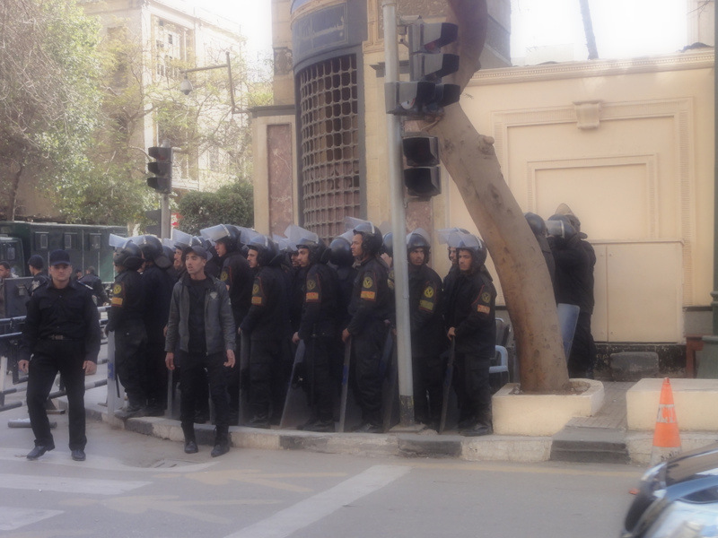 Riot police in Cairo.