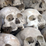Skulls from the Killing Fields Museum, Cambodia.
