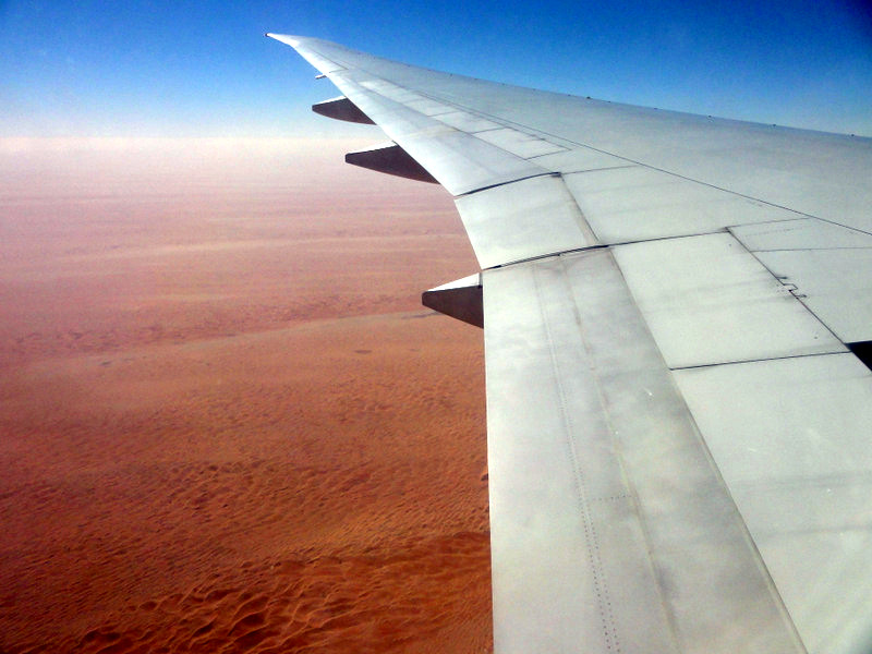View flying into Abu Dhabi.