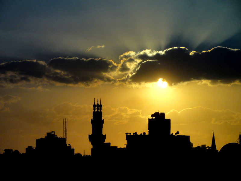 Beautiful Sunset in Cairo