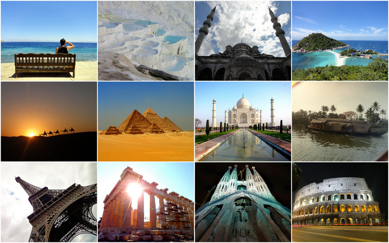 Unesco Sights around the world.
