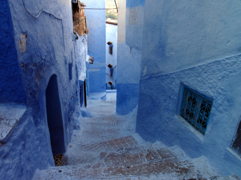 The blue world of Chefchaouen, Morocco.