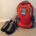 My new day pack & hiking shoes.