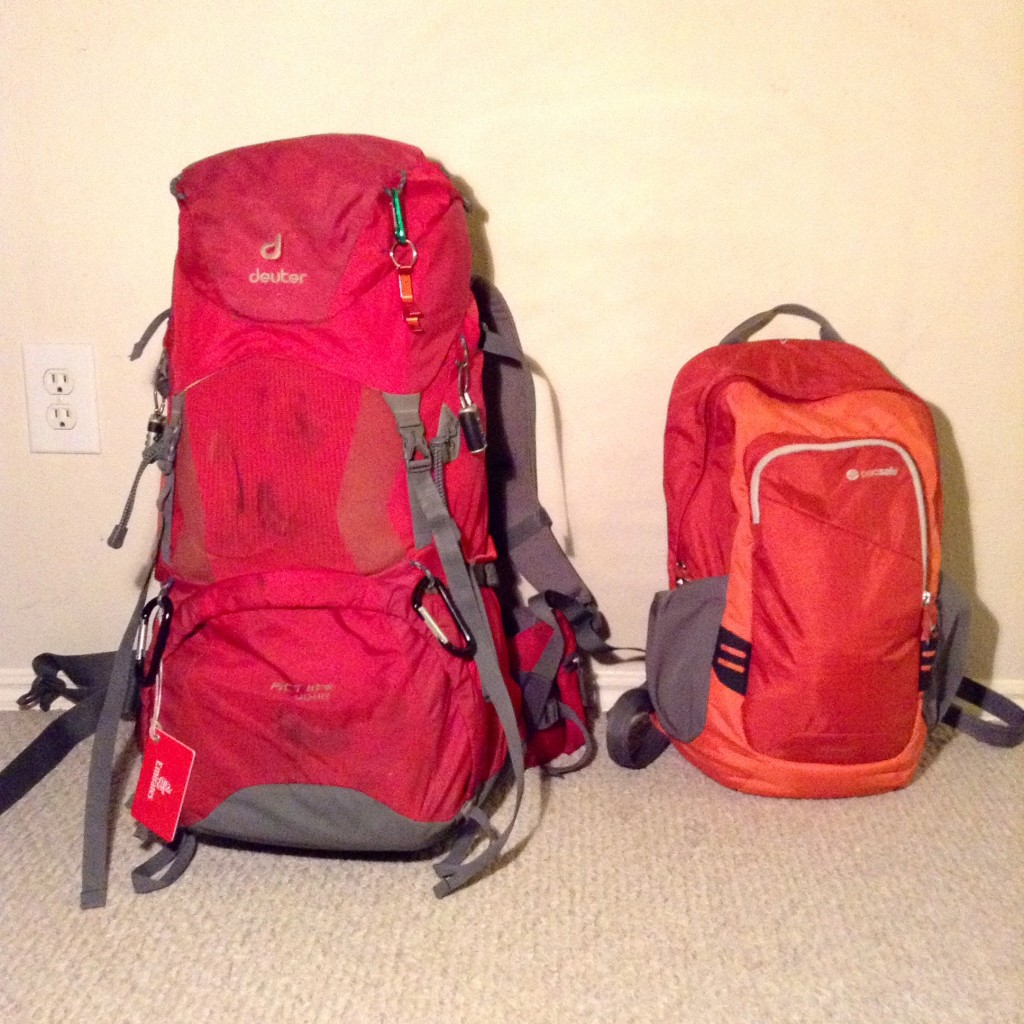 Backpack to travel the world.