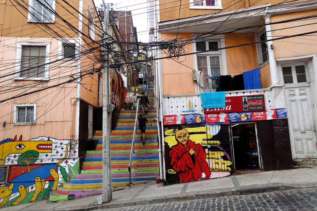 Alleys of Valparaiso, Chile