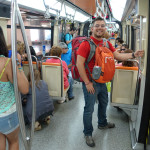 On the Santiago metro.