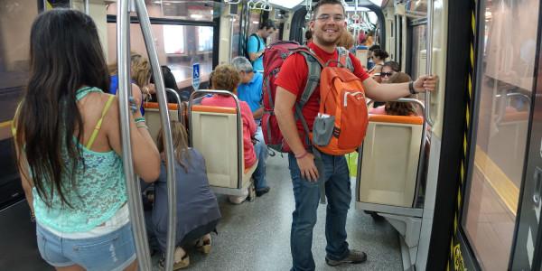 On the Santiago metro.