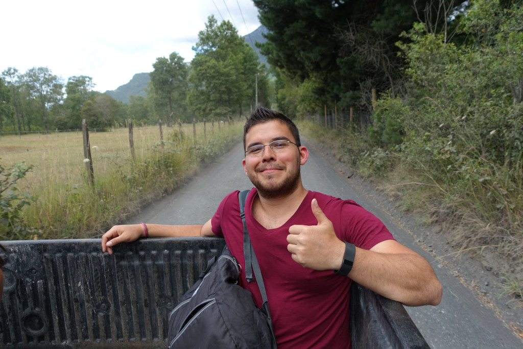 Hitchhiking in Chile.
