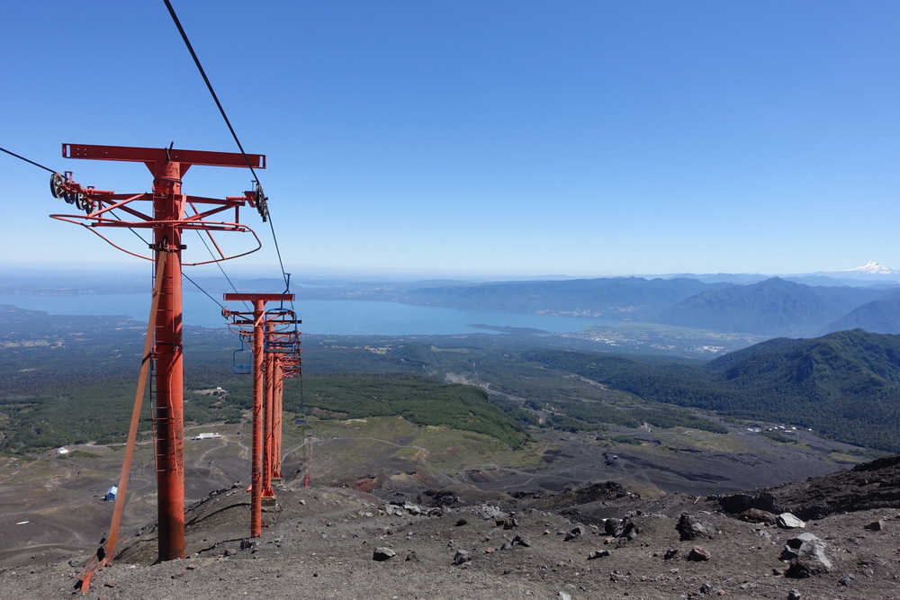 View down from Ski Life in Volcano Villarica
