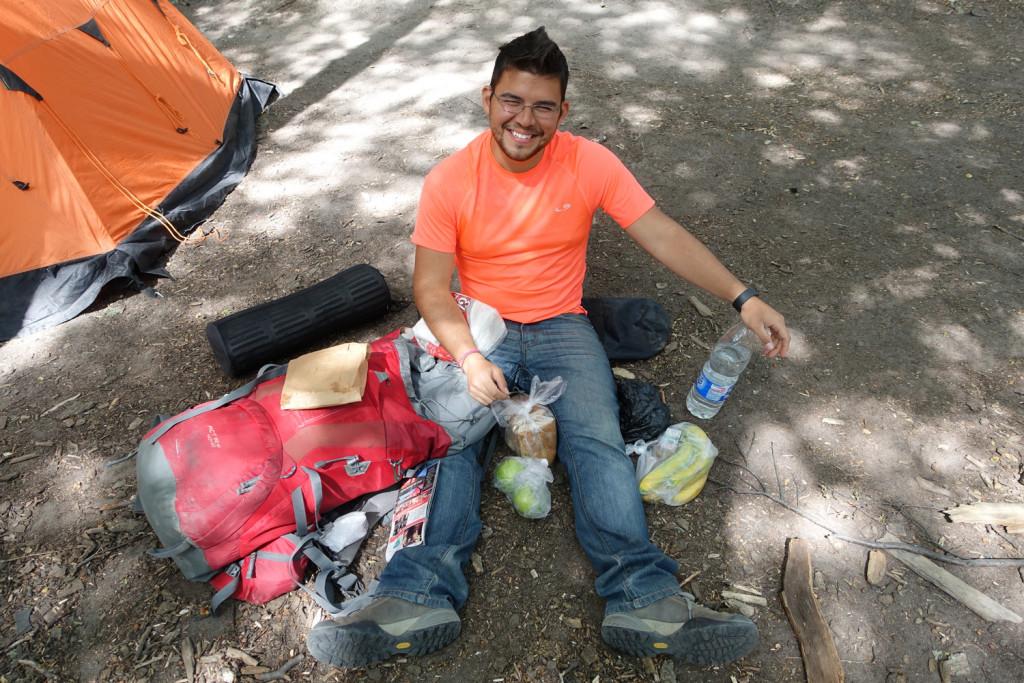Camping in El Chalten.