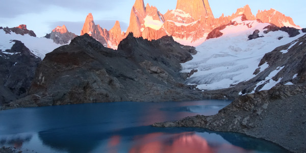 Sunrise on Fitz Roy, El Chalten.