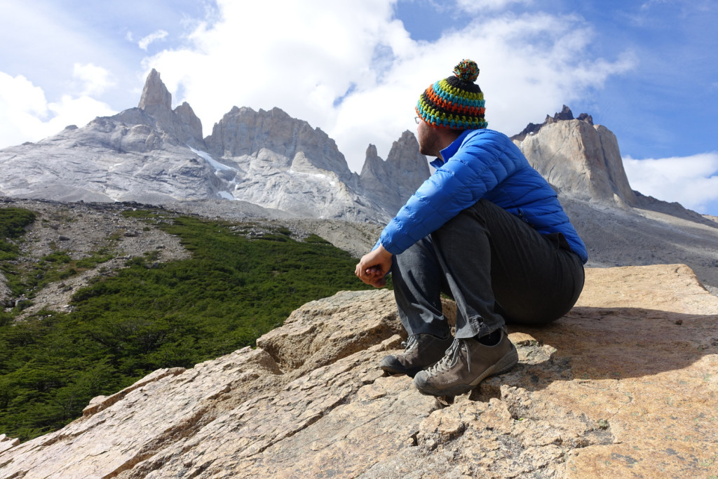 Hiking The W in Torres del Paine.
