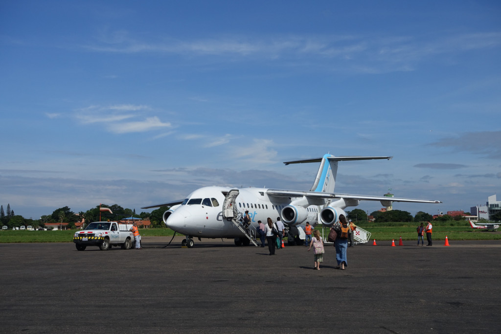 Flight from Santa Cruz to Sucre.